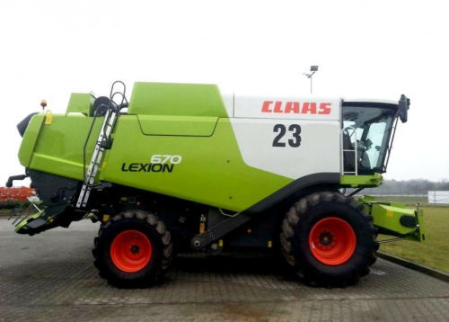 Комбайн CLAAS lexion 670 - 1